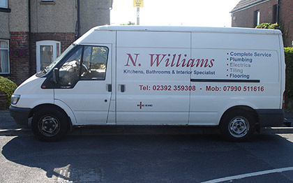 kitchen fitter Nick Williams Van